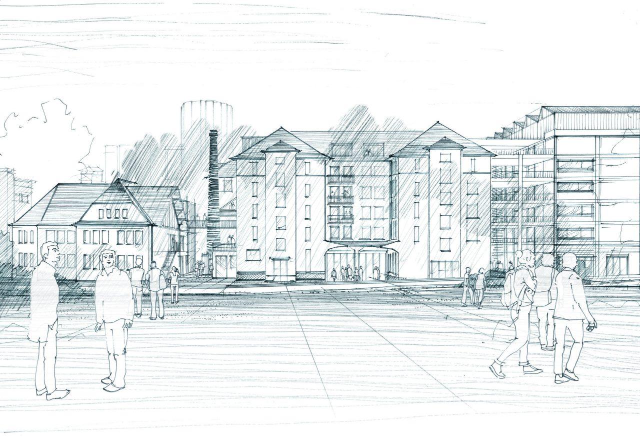 « Ce que pourrait devenir les façades de la COOP » Crédits Alexandre Chemetoff