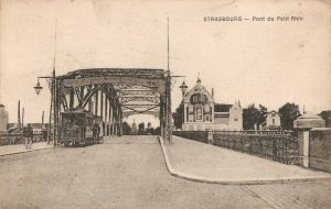There was already a tram line over the Rhine a hundred years ago © Archives Municipales de Strasbourg