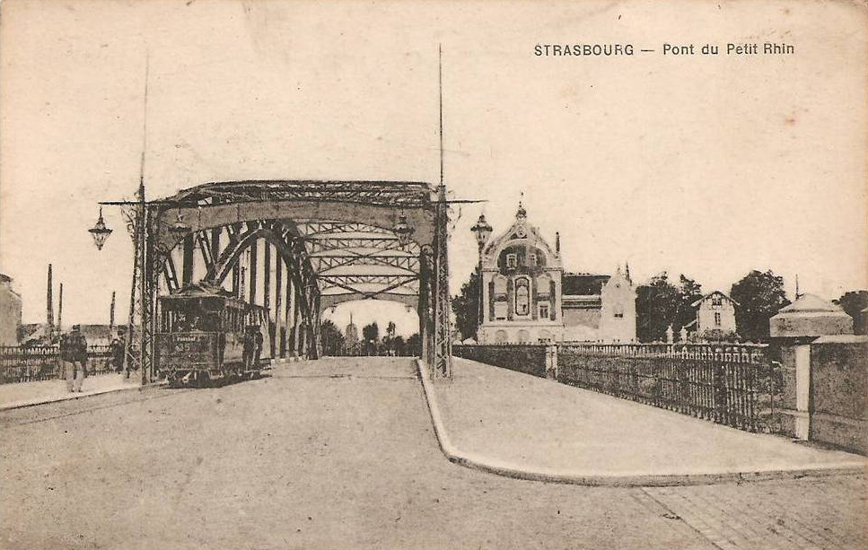 Il y a un siècle, le tramway traversait déjà le Port du Rhin © Archives Municipales de Strasbourg