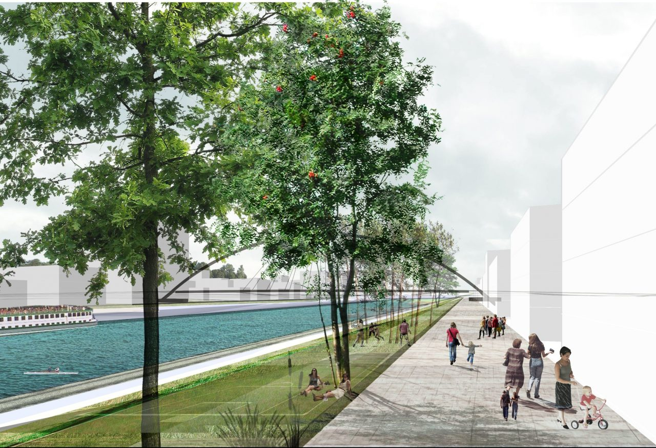 «The future promenade area along the bassin Vauban » ©Agence TER