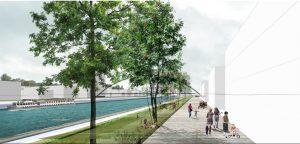 « Die parallel zum Vauban-Becken verlaufende zukünftige Promenade » ©Agence TER