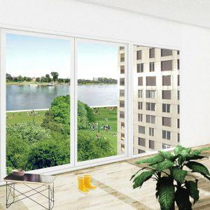 «Perspective depuis les futurs logements sur les rives du Rhin» ©Agence TER