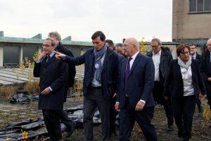 «Roland Ries et Alain Fontanel présentent le projet de la COOP à Michel Sapin» ©Jelena Perusinovic
