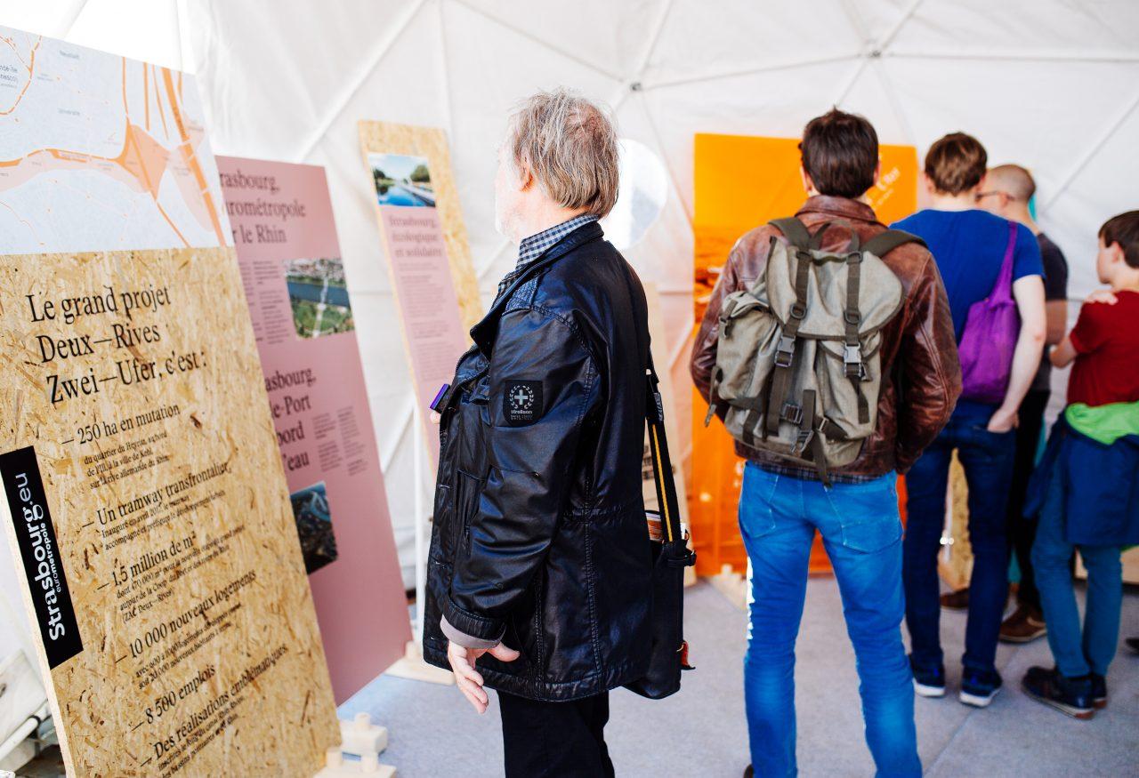 L'exposition pour mieux connaître le Projet Deux-Rives / Zwei Ufer © Vincent Muller / SPL Deux Rives