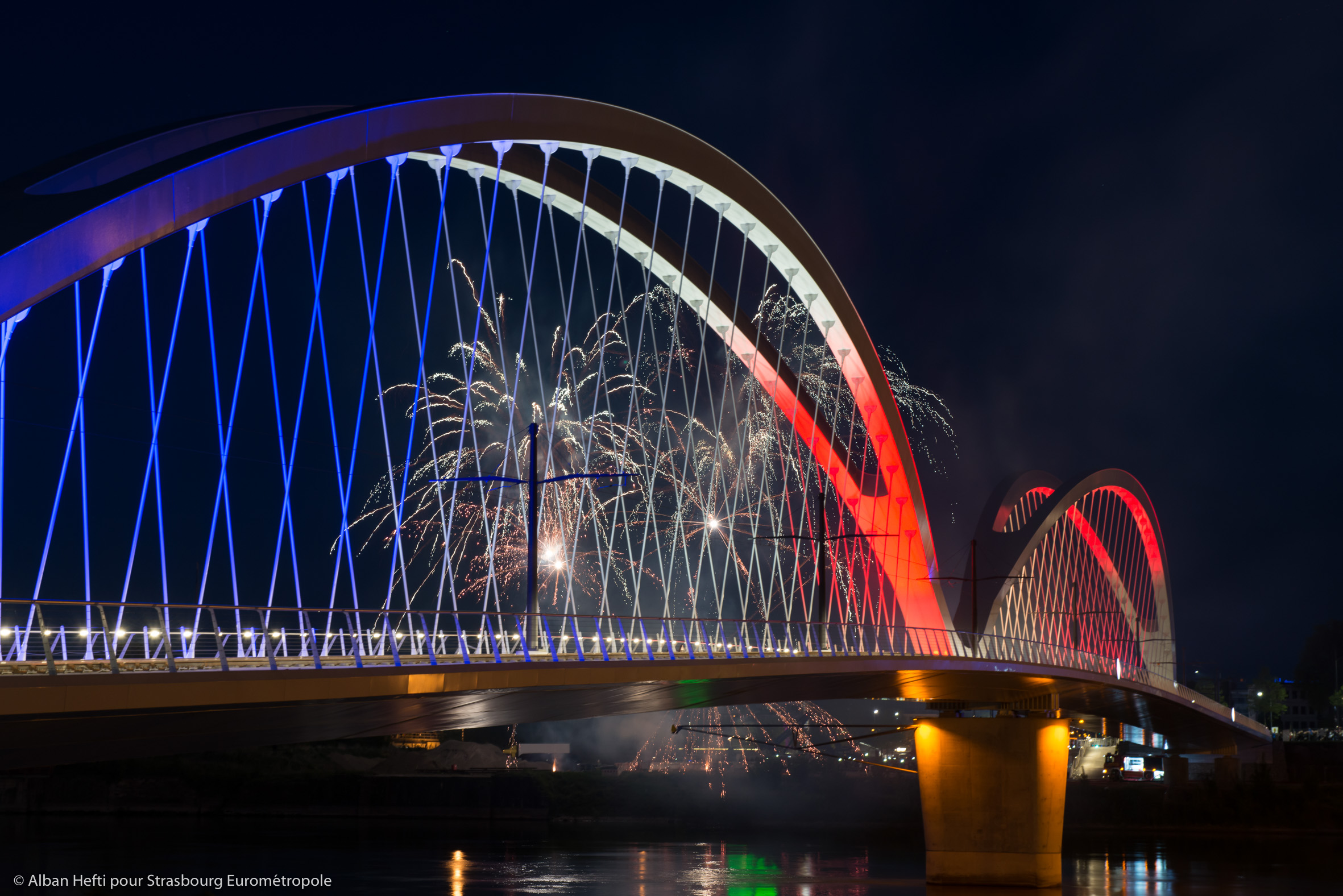 L'inauguration du pont Beatus Rhenanus durant le TRAMFEST - © Eurométropole