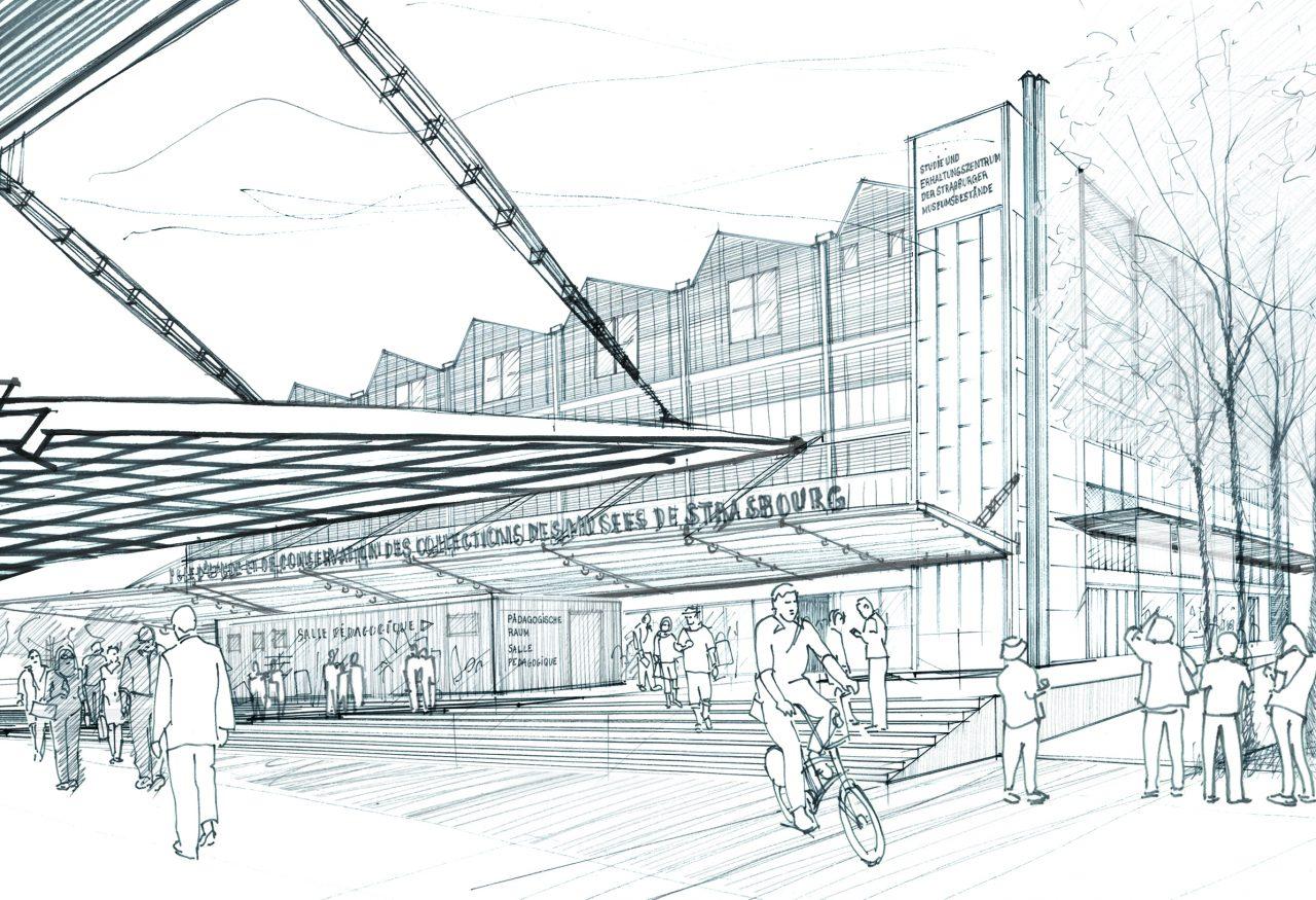 Le futur pôle d'études et de conservation des musées de Strasbourg qui ouvrira fin 2019 (©A. Chemetoff)