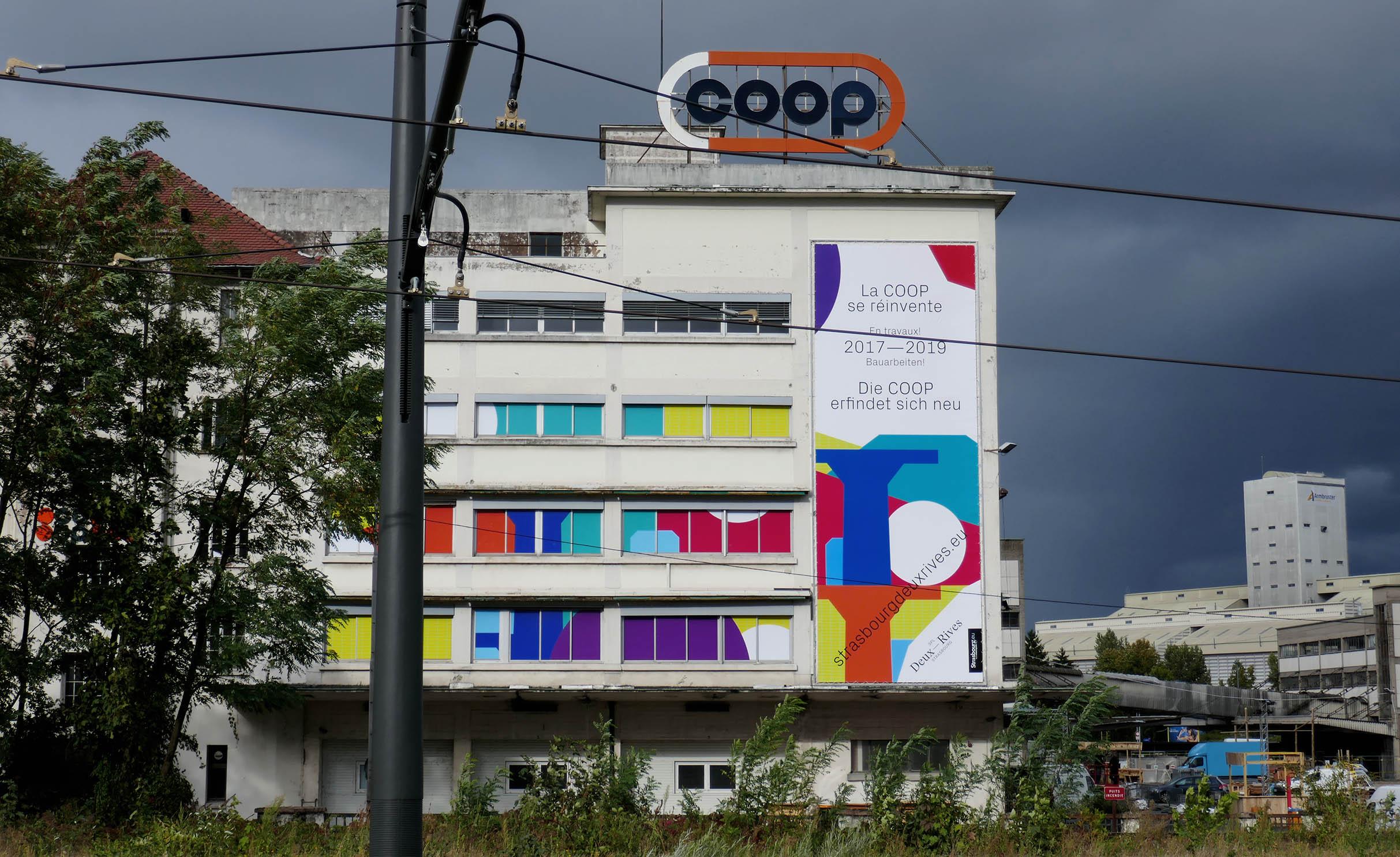 Les premiers travaux de réhabilitation du site de la COOP ont commencé ! (© SPL Deux Rives)