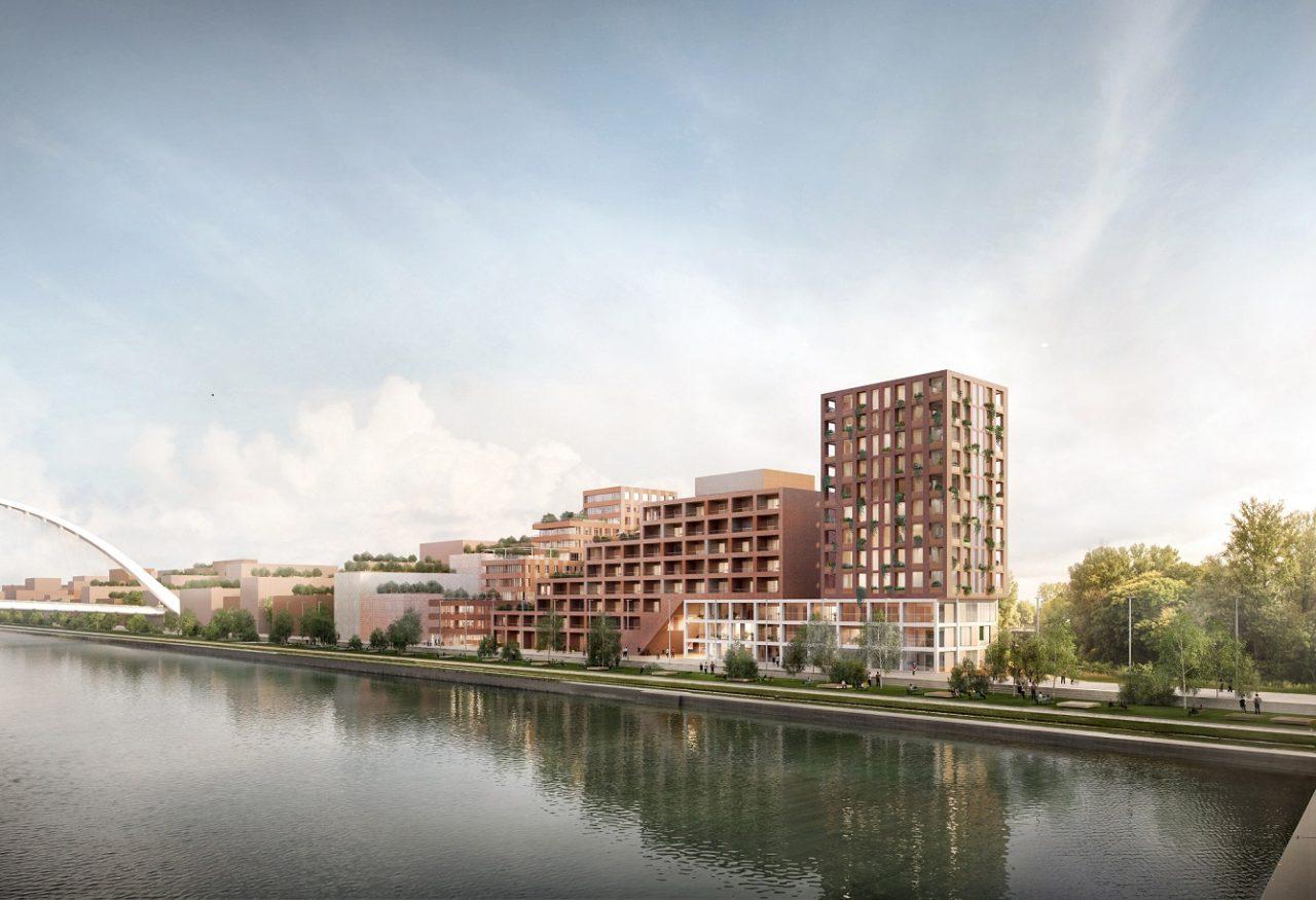 Vue sur le bassin Vauban - © Dominique Coulon & associés + HHF architects + Tatiana Bilbao ESTUDIO Images : Philippo Bolognese
