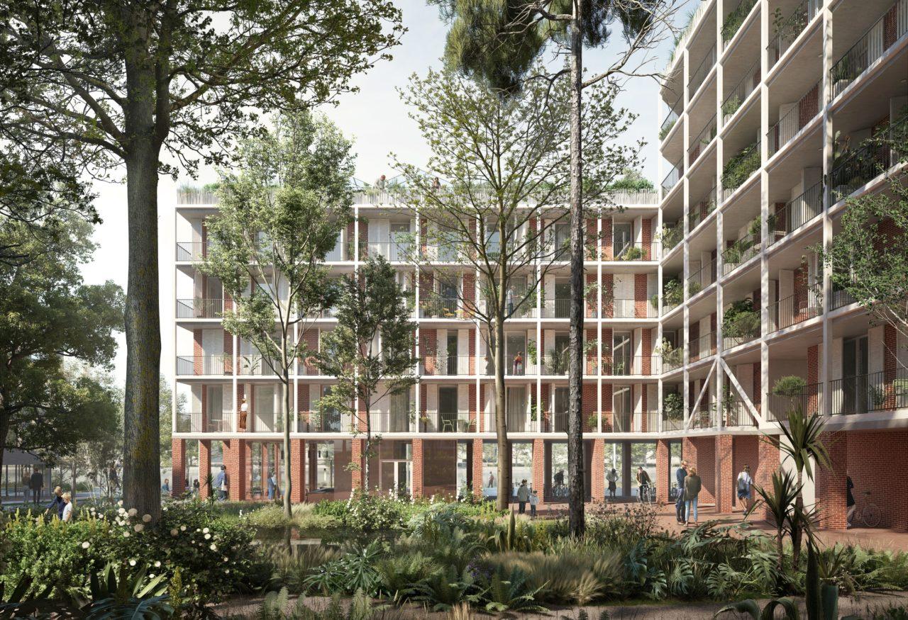 Jardin planté © OFFICE Kersten Geers David Van Severen + LPAA Loïc Picquet Architecte + Filippo Bolognese