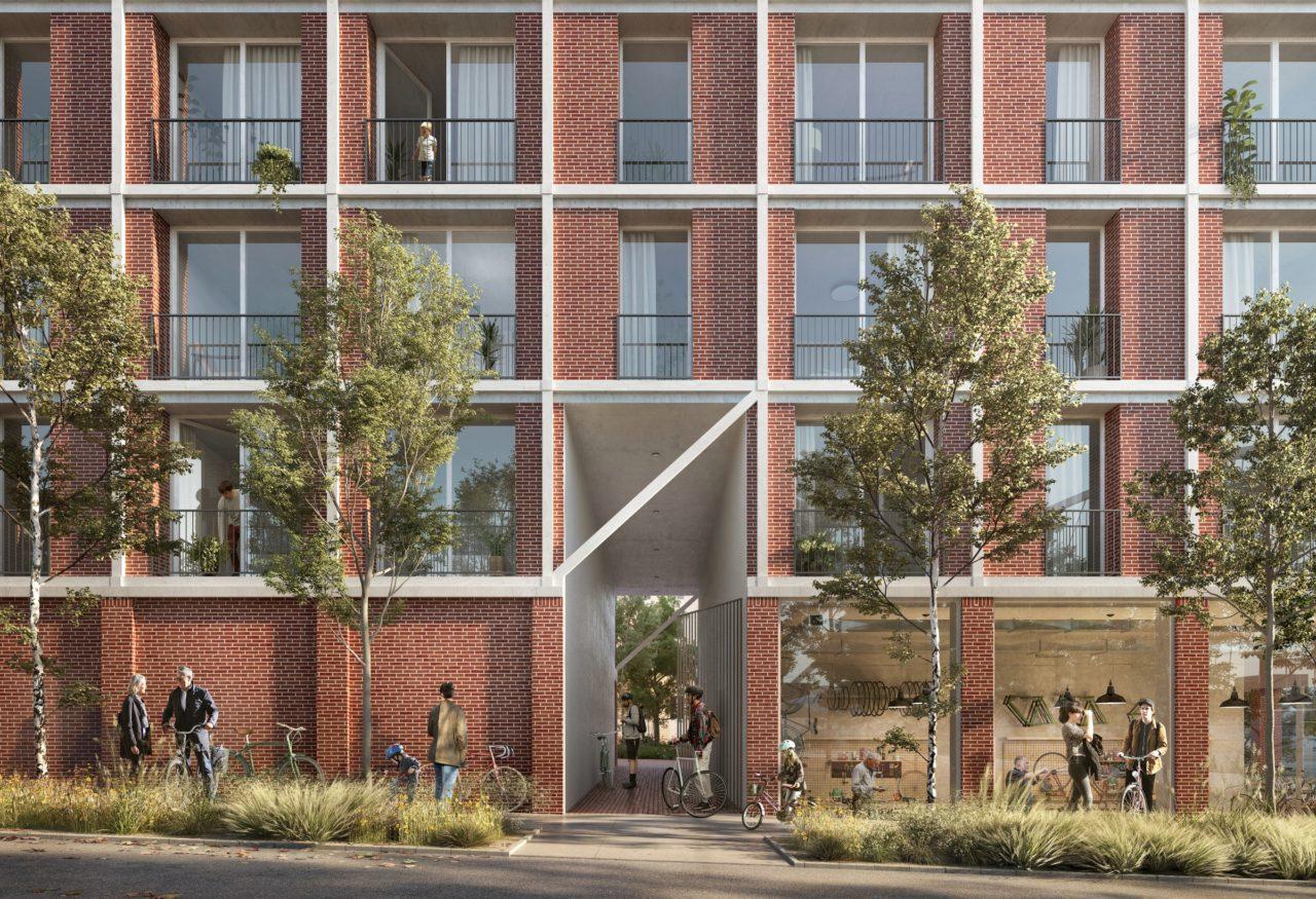La façade © OFFICE Kersten Geers David Van Severen + LPAA Loïc Picquet Architecte + Filippo Bolognese