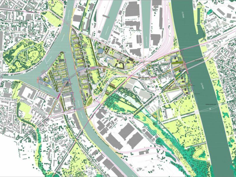 Le plan-guide du territoire actuel. © Agence TER / LIST / 51N4E