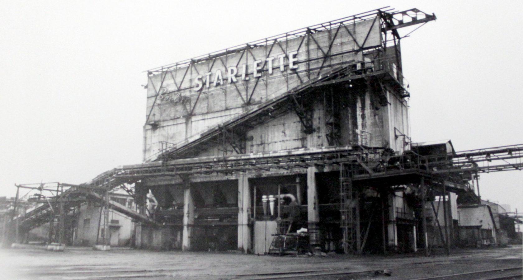 Photo de l'usine de boulets de charbon Starlette au cours du XXème siècle. Crédits photo : Inventaire de la région / Patrimoine d'Alsace