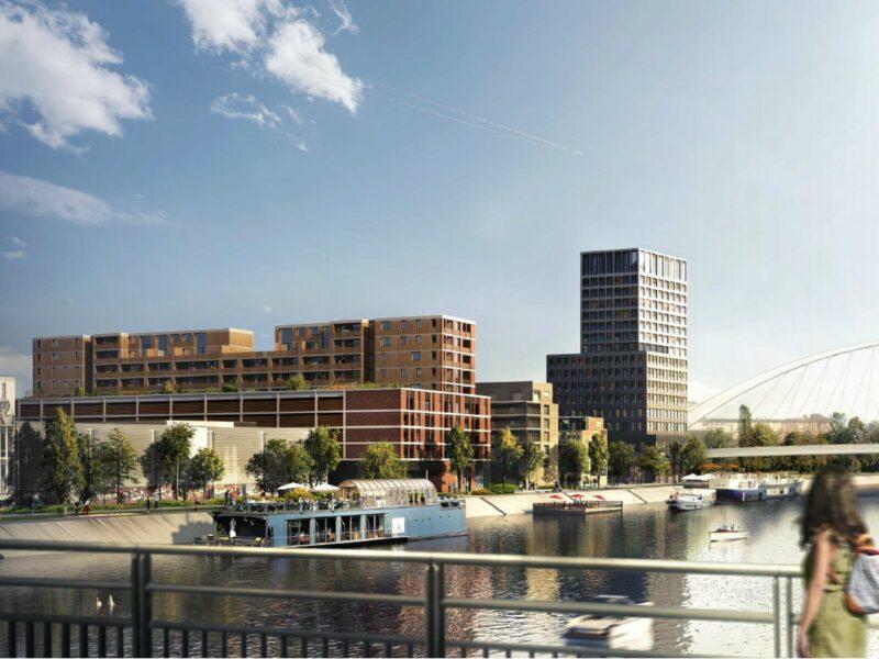 Vue perspective de Dock-1. Crédits Lucquet Architectes et Dietrich Untertrifaller Architectes.
