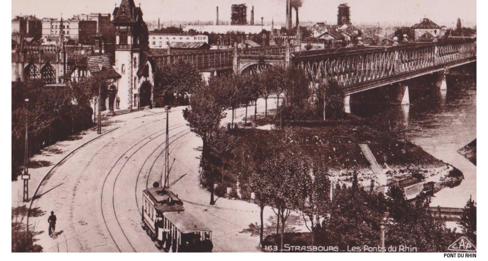 Im Laufe der Jahre nähern sich Stadt und Straßenbahn dem Rhein wieder an. Copyright Archiv der Stadt Straßburg