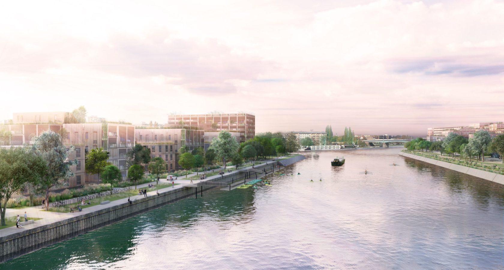 Blick auf den Stadtteil Citadelle von der André-Bord-Brücke aus, Copyright für Perspektive bei Agence TER