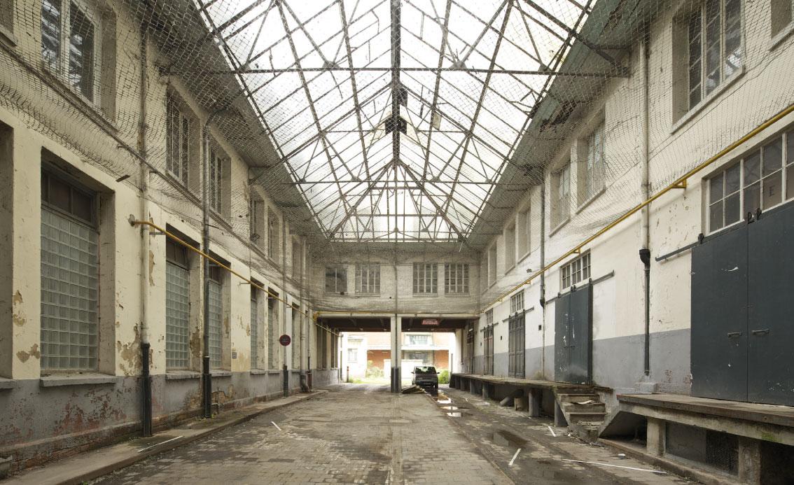 Das Glasdach des Gebäudes Administration vor der Sanierung, Copyright Arnaud Duboys Fresney
