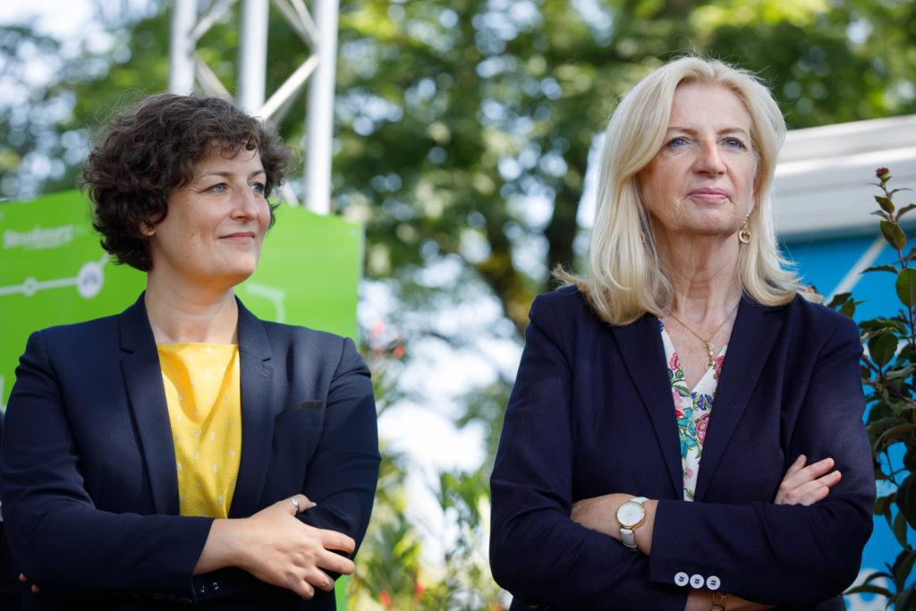 Jeanne Barseghian et Pia Imbs durant l'inauguration de la Inaug 89ème foire européenne