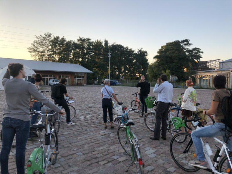 Quoi de mieux qu'une promenade à vélo pour découvrir le territoire du projet Strasbourg Deux-Rives ? Crédits photo SPL Deux-Rives.